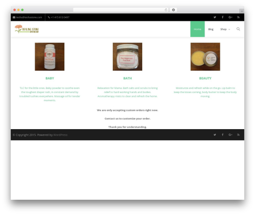 Creativo Theme WordPress theme design - teshastone.com