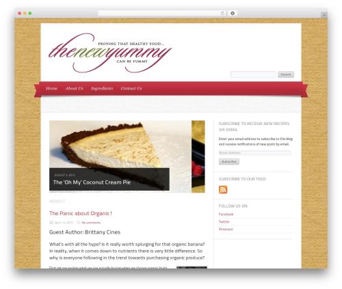 Delicacy food WordPress theme - thenewyummy.com