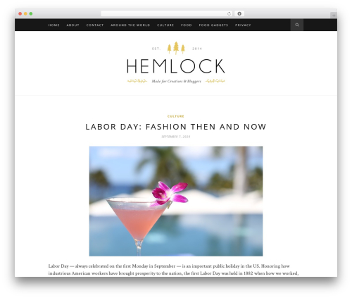 Hemlock food WordPress theme - thenewlicious.com