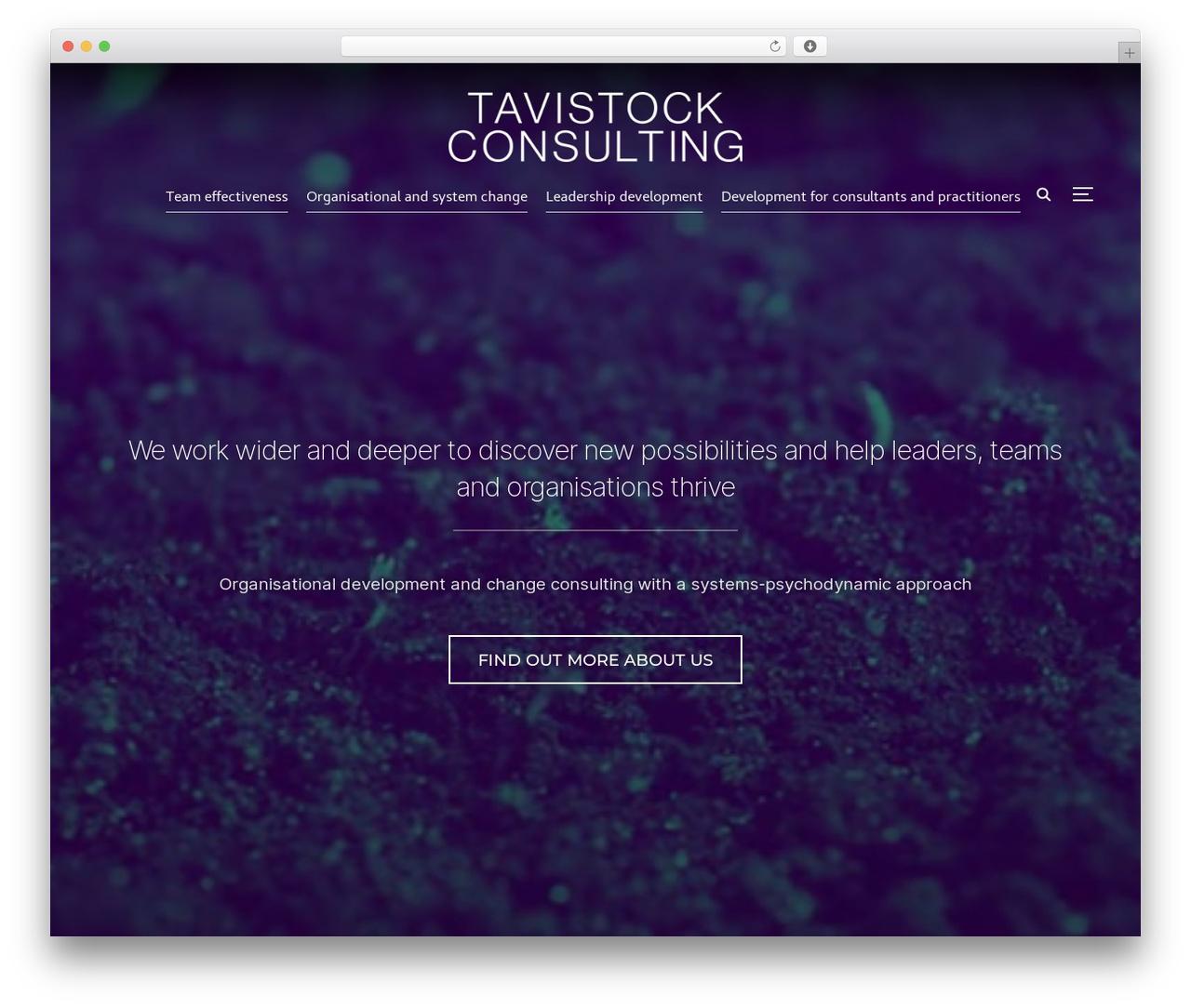 Inspiro WordPress theme - tavistockconsulting.co.uk