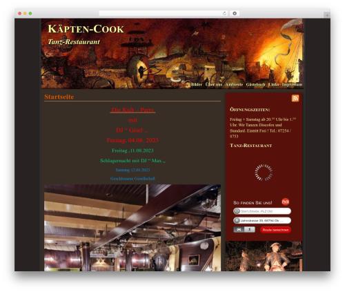 Mad Meg WordPress restaurant theme - tanzlokal-kaepten-cook.de