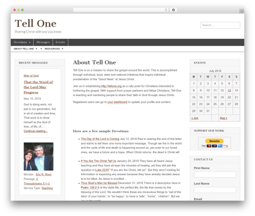 Magazine Basic WordPress template free - tellone.org