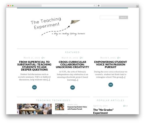 Free WordPress Email Subscription plugin - teachingexperiment.com