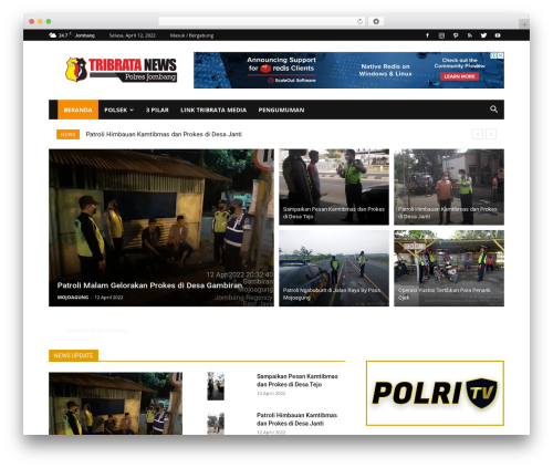 Newspaper WordPress page template - tribratanewsjombang.com