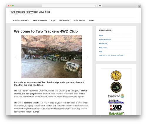 Responsive free website theme - twotrackers.org