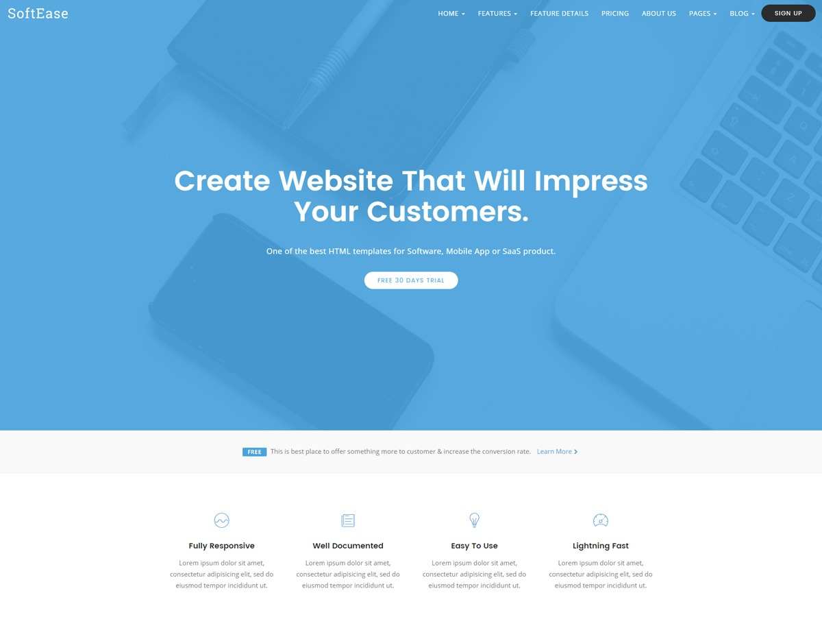 SoftEase WordPress theme