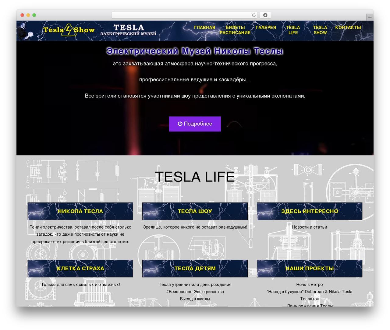 Tesla WP template - tesla-sochi.ru