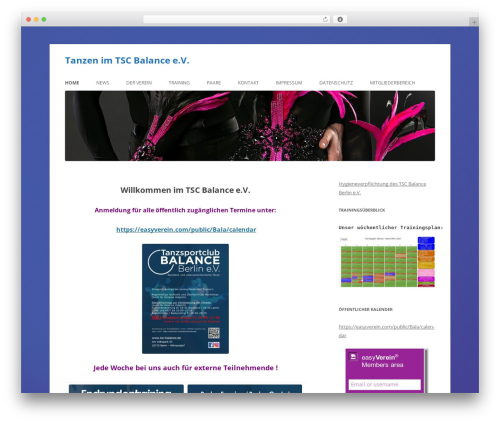 Twenty Twelve template WordPress free - tsc-balance.de