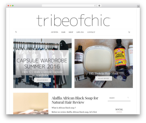 WordPress template Dashblog - tribeofchic.com