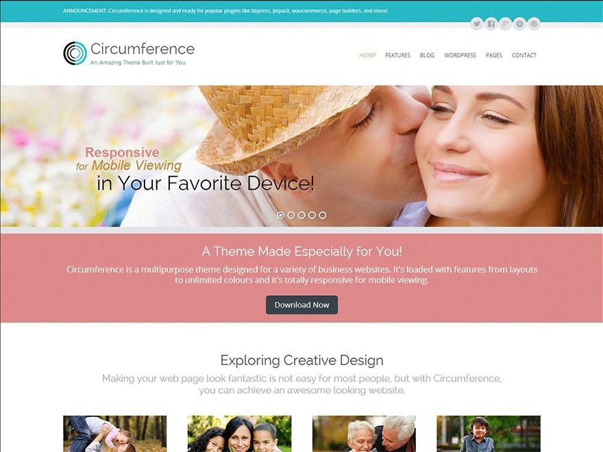 WordPress template Theme für Tanja Brunner (Child von Circumference)