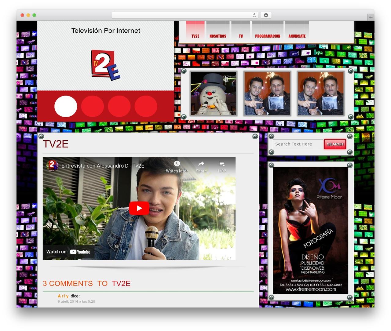 WordPress theme DISCUSSION - tv2e.com