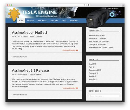 Free WordPress 3D Tag Cloud plugin - tesla-engine.net