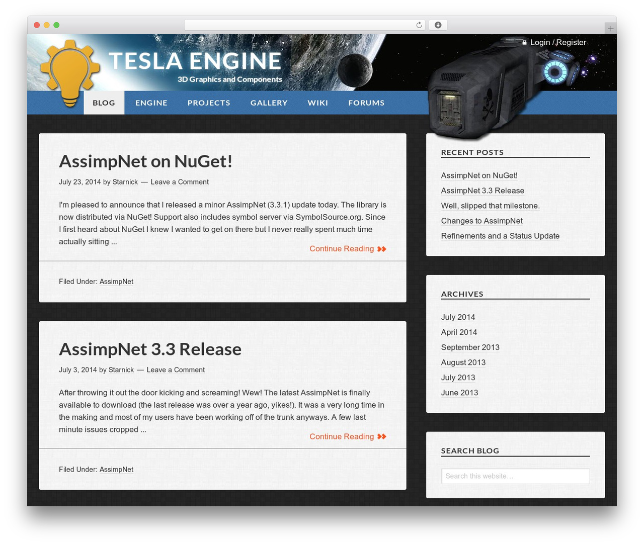 WordPress theme Genesis Tesla - tesla-engine.net