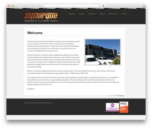 WordPress theme Swatch - toptorque.com.au