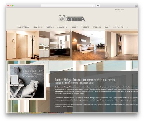 WordPress website template Bridge - tesesa.com