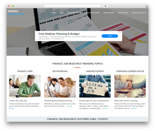 Avion WordPress template - financejobresource.com