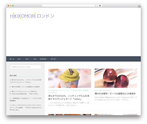 Hueman best free WordPress theme - hikikomorilondon.com