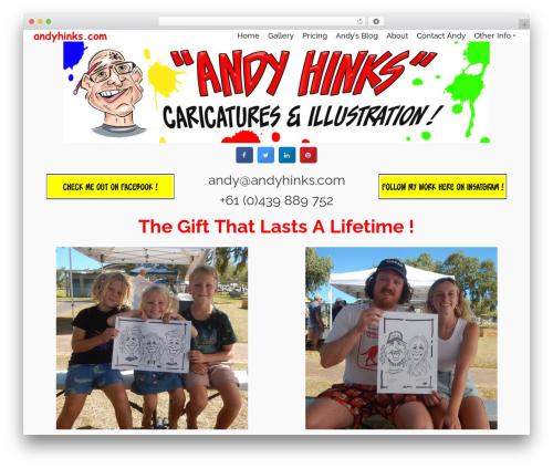 Pinnacle WordPress website template - andyhinks.com