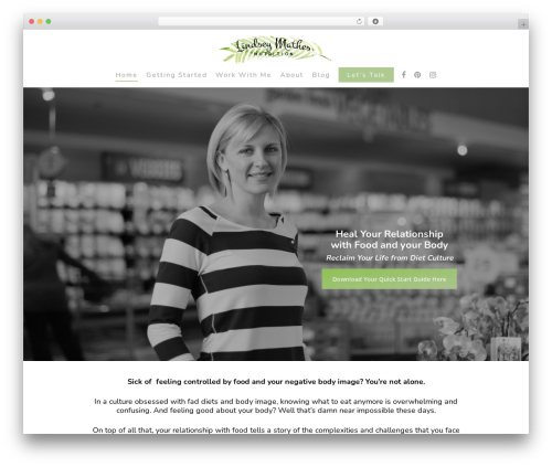 Theme WordPress Salient - lindseymathesnutrition.com