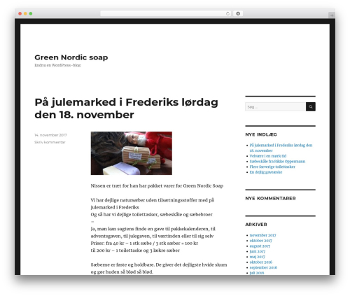 Twenty Sixteen theme WordPress free - greennordicsoap.com