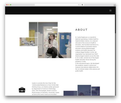 WordPress theme Betheme - swetaraghavan.com