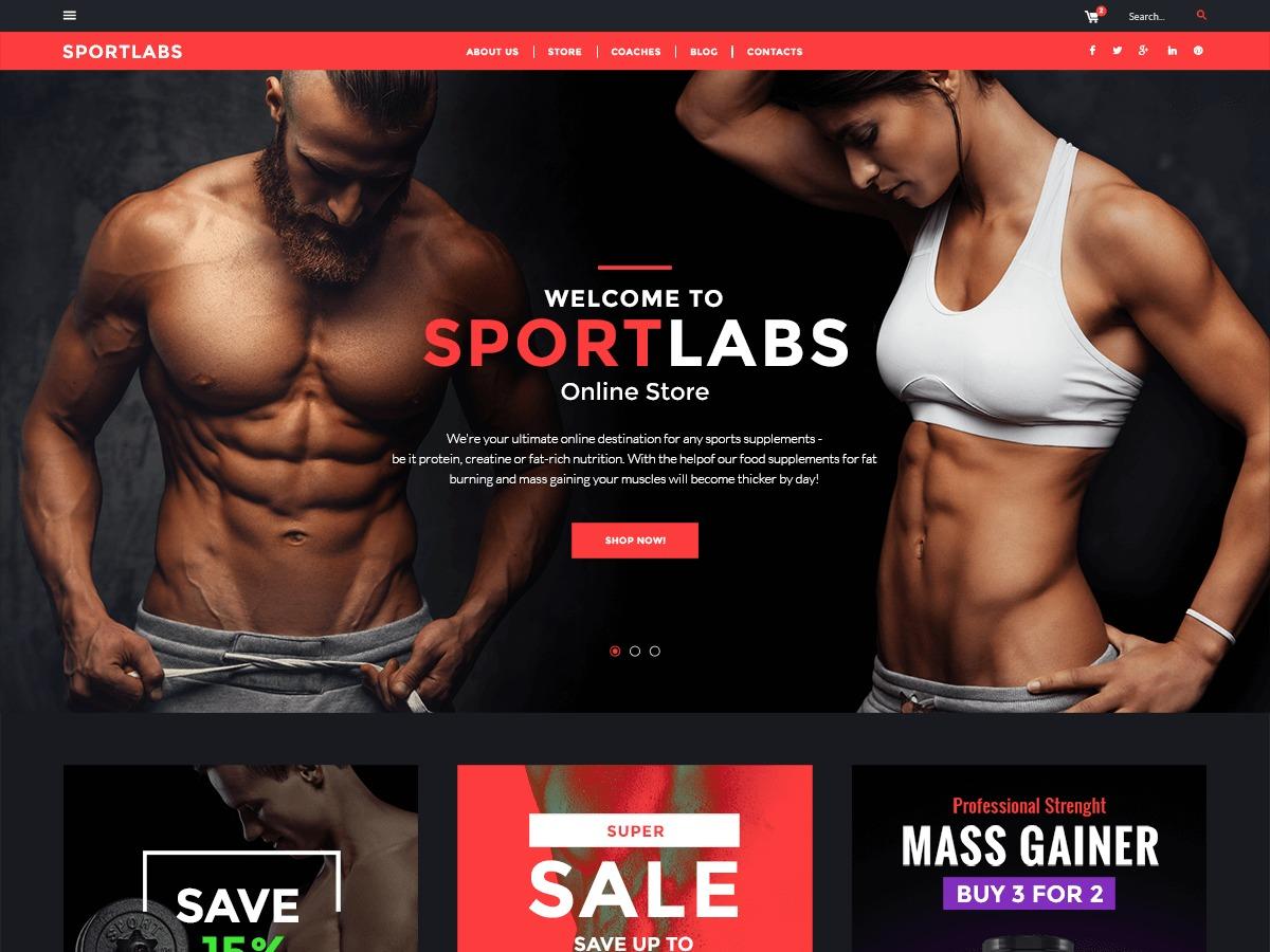 WordPress website template SportLabs