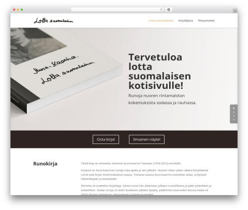 WP theme Divi - lottasuomalainen.com
