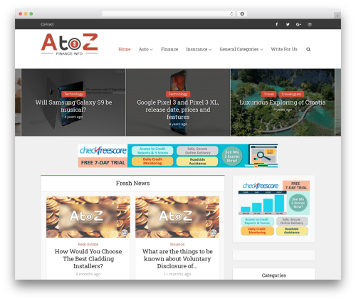 WP theme Voice - atozfinanceinfo.com