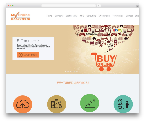 Codeus WordPress theme design - myonlinebookkeeper.com