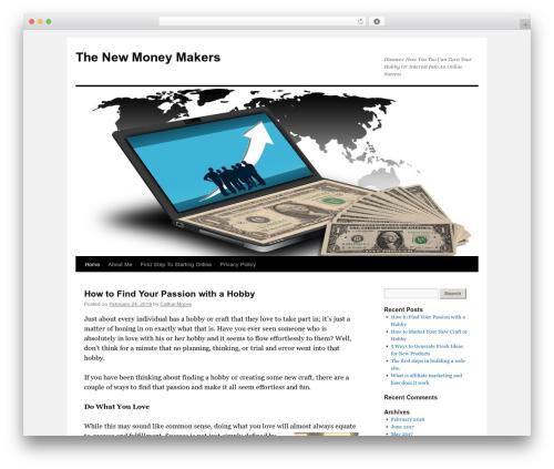 Twenty Ten free WordPress theme - thenewmoneymakers.com