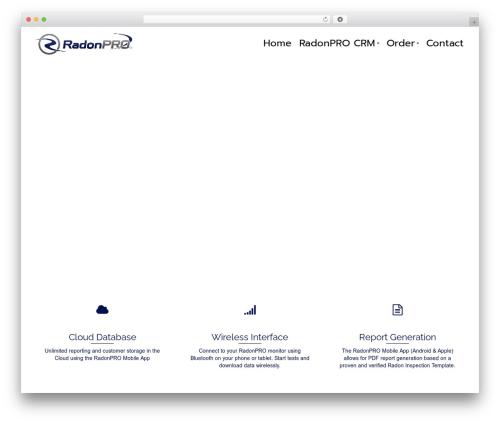 WordPress theme Pinnacle - radonpromonitors.com