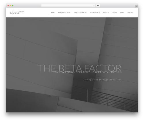 WordPress website template Wp Haswell - thebetafactor.com