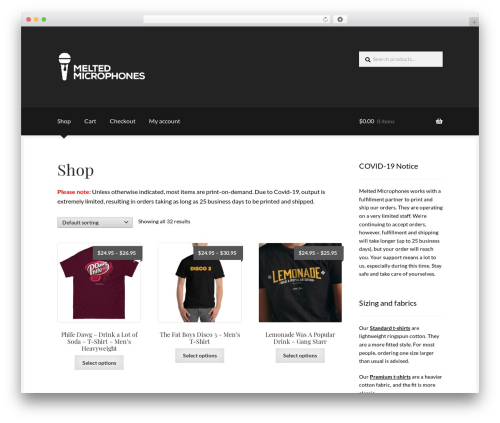 Boutique WordPress theme free download - meltedmicrophones.com