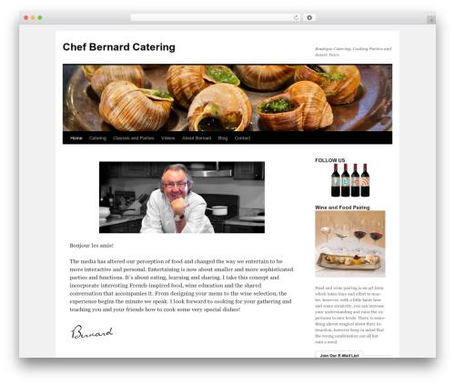 Twenty Ten template WordPress free - chefbernardcatering.com