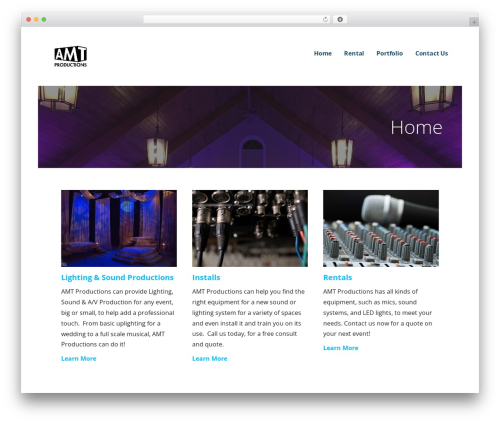Ascension best WordPress template - amt-productions.com