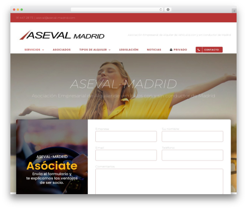 Avada premium WordPress theme - aseval-madrid.com