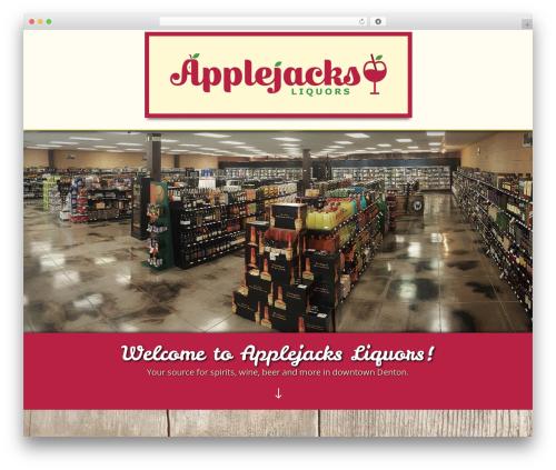 Divi best WooCommerce theme - applejacksliquors.com