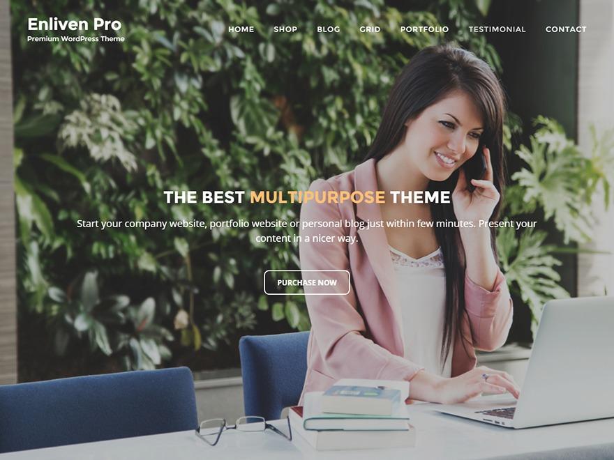 Enliven Pro WordPress ecommerce template