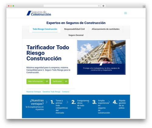 Theme WordPress Betheme - segurosdeconstruccion.com