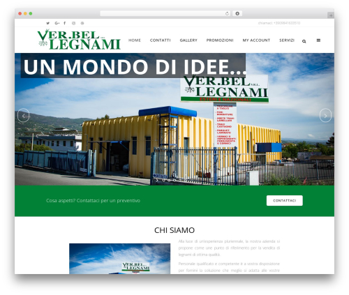Bridge top WordPress theme - legnamiverbel.com