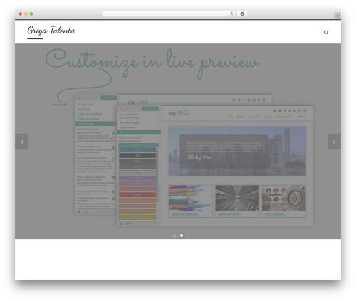 Customizr WordPress template free - griyatalenta.com