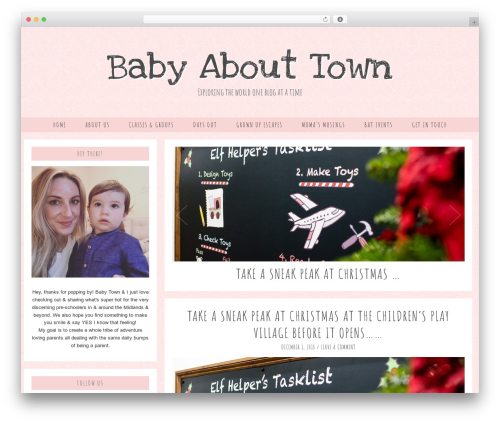 Evelyn Rose (pipdig) WordPress page template - babyabouttown.com