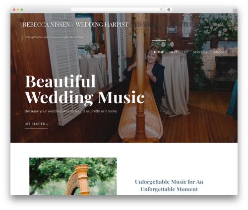 Primer best wedding WordPress theme - myrtlebeachharpist.com