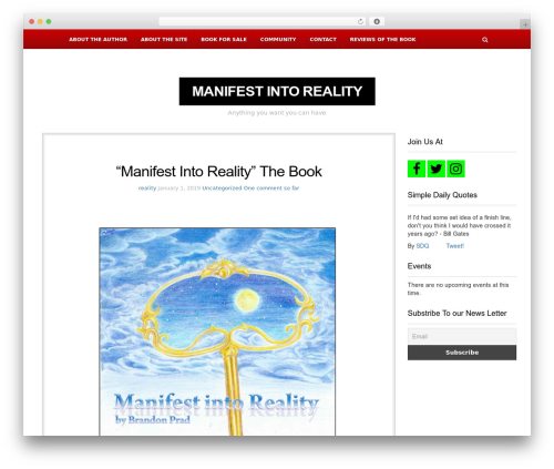 Theme WordPress NewsBlog - manifestintoreality.com