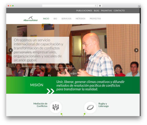 WordPress theme Betheme - albornozkokot.com