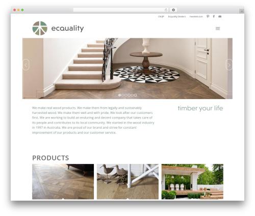 WordPress website template Enfold - ecquality-timber.com