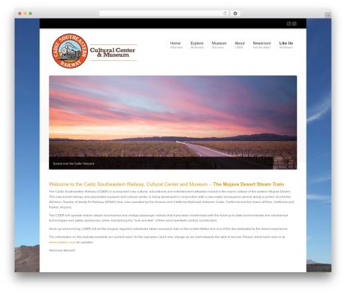 Corona WordPress page template - desertsteamtrain.com