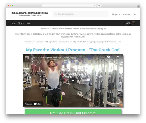 Shoptimizer WordPress shop theme - ramonpolofitness.com