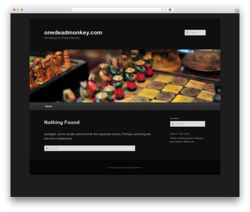 Twenty Eleven best free WordPress theme - onedeadmonkey.com