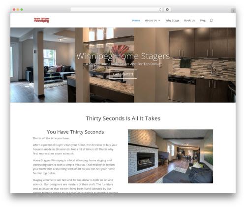 WordPress theme Divi - homestagerswinnipeg.com